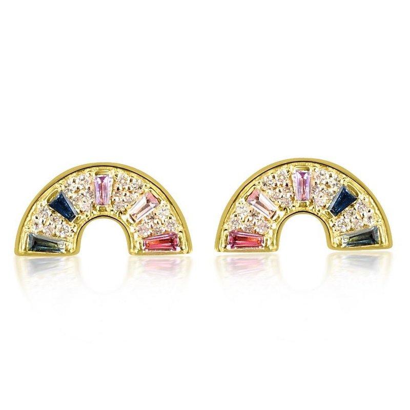 Curated Color Rainbow Stud Earrings