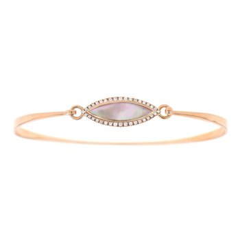 14 Karat Blush Mother of Pearl Bangle