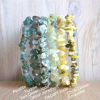 Beachy Baubles by The Studio Beach Stone Gem Stretch Bracelets