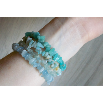 Beach Stone Gem Stretch Bracelets