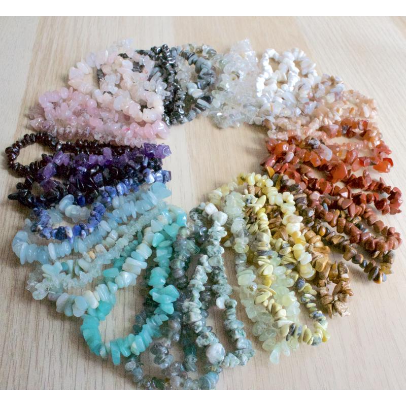 Beach Stone Gem Stretch Bracelets