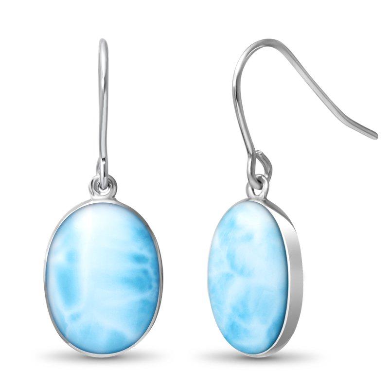 Studio Silver Oval Dangle Earrings