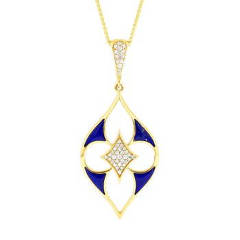 14 Karat Lapis Lumiere Necklace