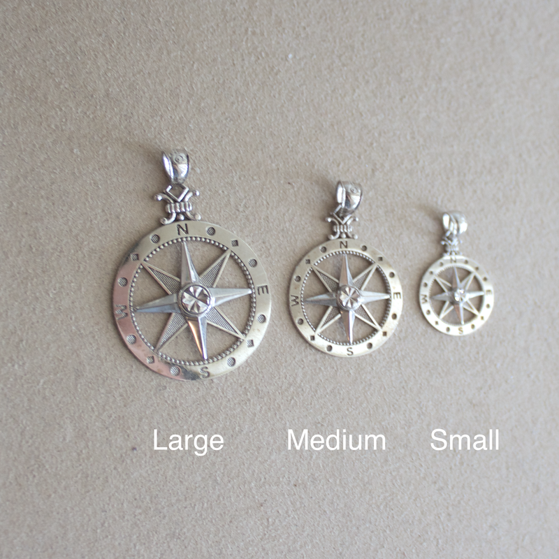 Small Classic Compass Charm