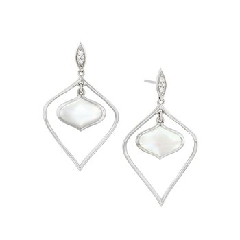 14 Karat Mother of Pearl Alhambra Earrings