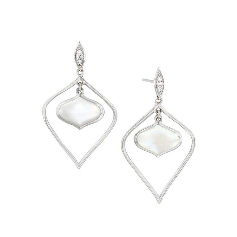 Studio Fine 14 Karat Mother of Pearl Alhambra Earrings