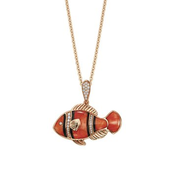 14 Karat Clownfish Necklace