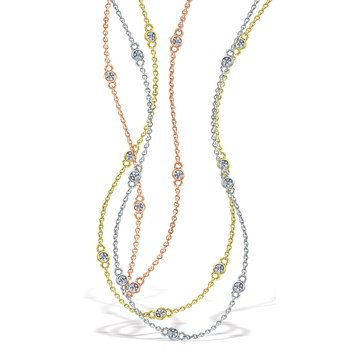 Diamond Dew Drop 10 Stone Chain