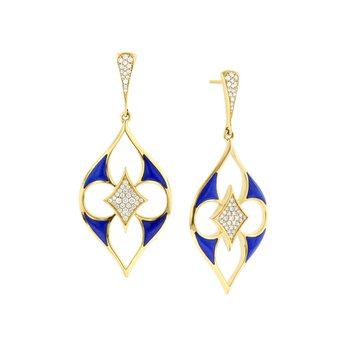 14 Karat Lapis Lumiere Earrings