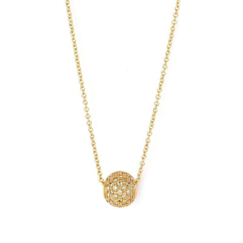 7 Mile Fine Diamond Bead Necklace