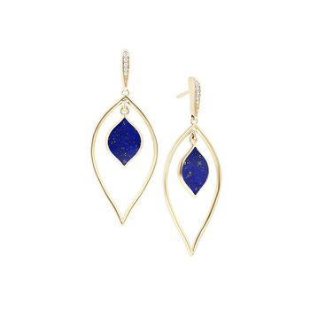 14 Karat Lapis Spire Earrings