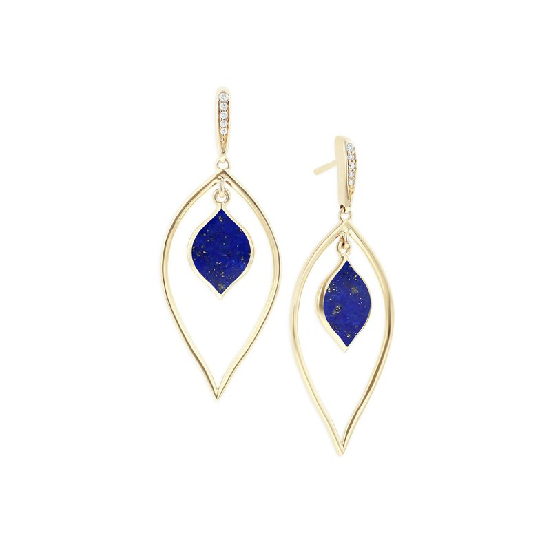 Studio Fine 14 Karat Lapis Spire Earrings