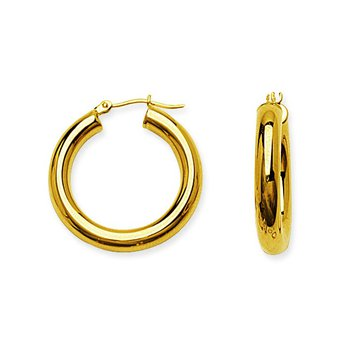 "14 Karat 1"" High Polish Hoops"