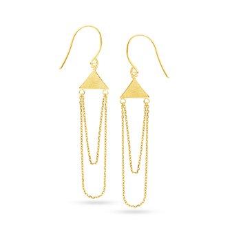 14 Karat Geometric Chain Earrings