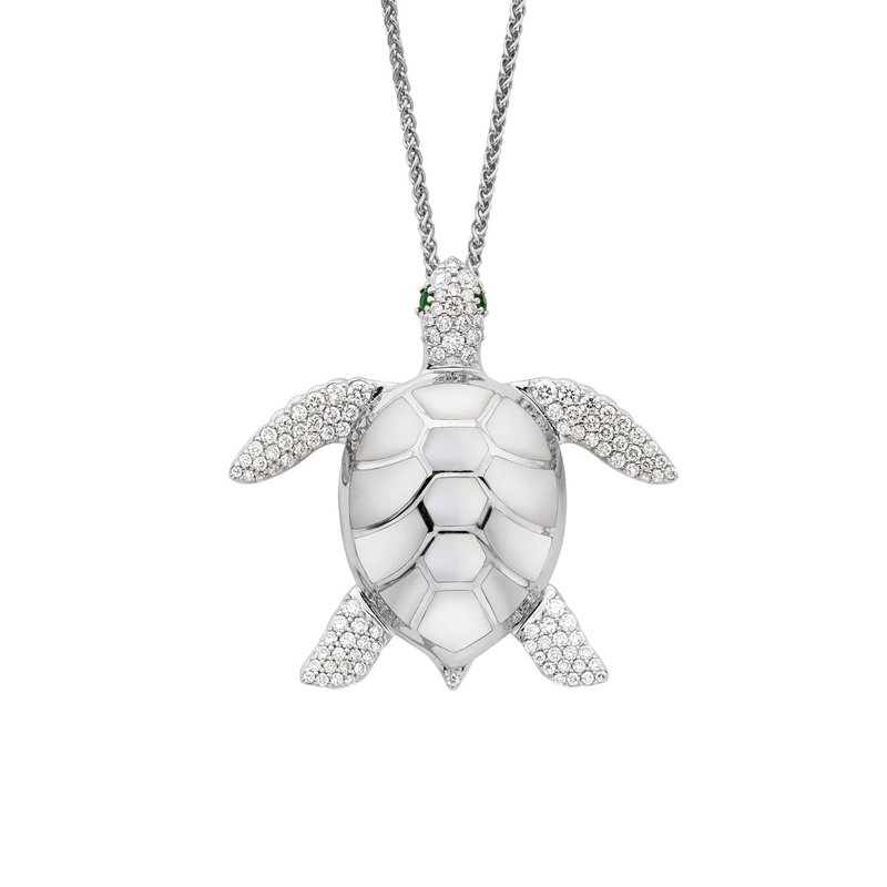 Studio Fine 14 Karat Mother of Pearl Turtle Necklace