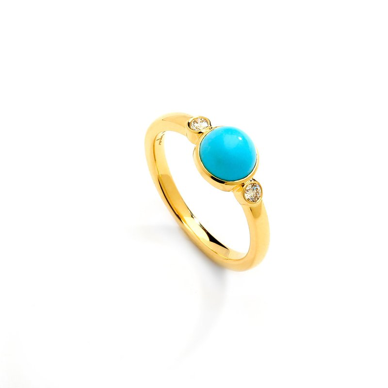 7 Mile Fine Turquoise Bauble Ring