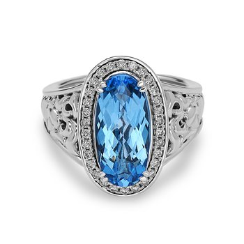 Blue Topaz Eve Ring