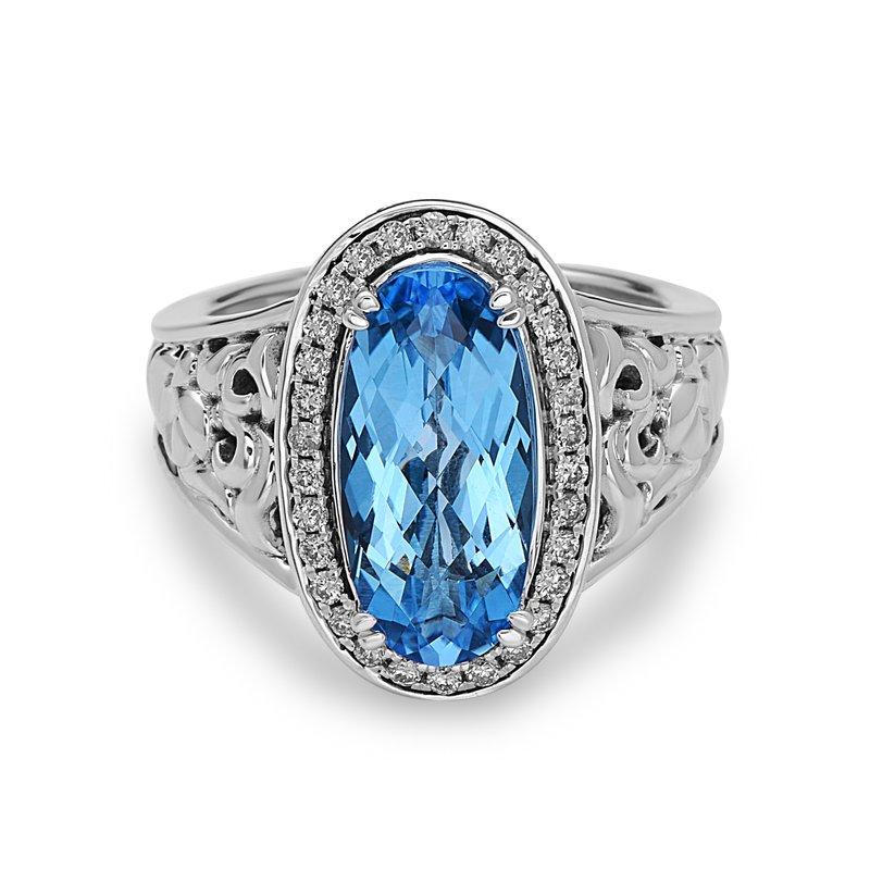 Studio Silver Blue Topaz Eve Ring
