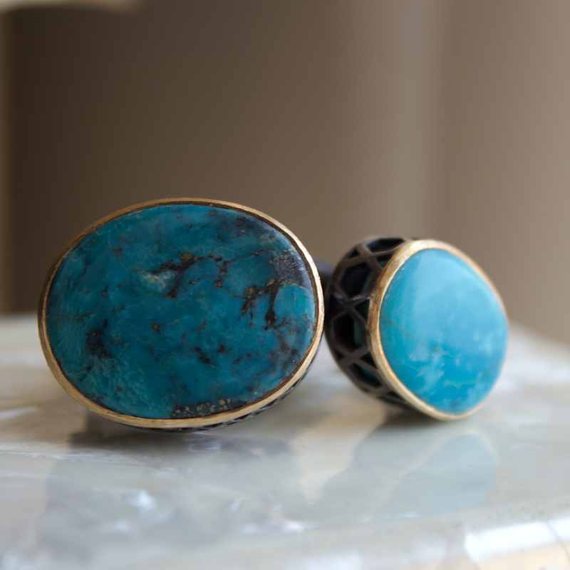Beachy Baubles by The Studio Jetty Turquoise Ring