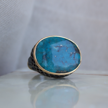 Jetty Turquoise Ring