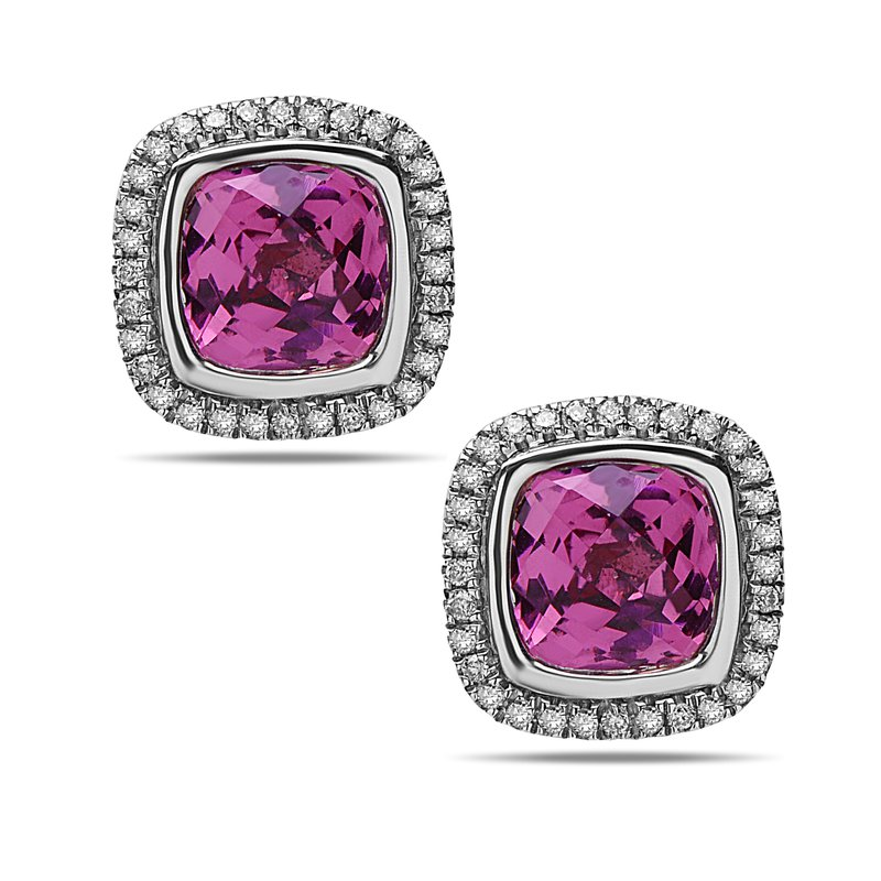 Studio Silver Pink Topaz Ellah Earrings