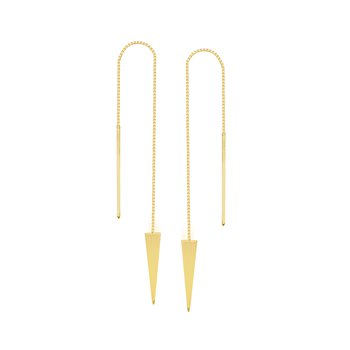 14 Karat Triangle Threader Earrings