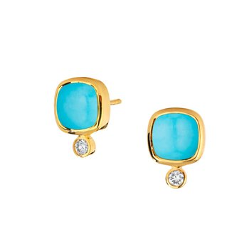 Turquoise Sugar Loaf Earrings
