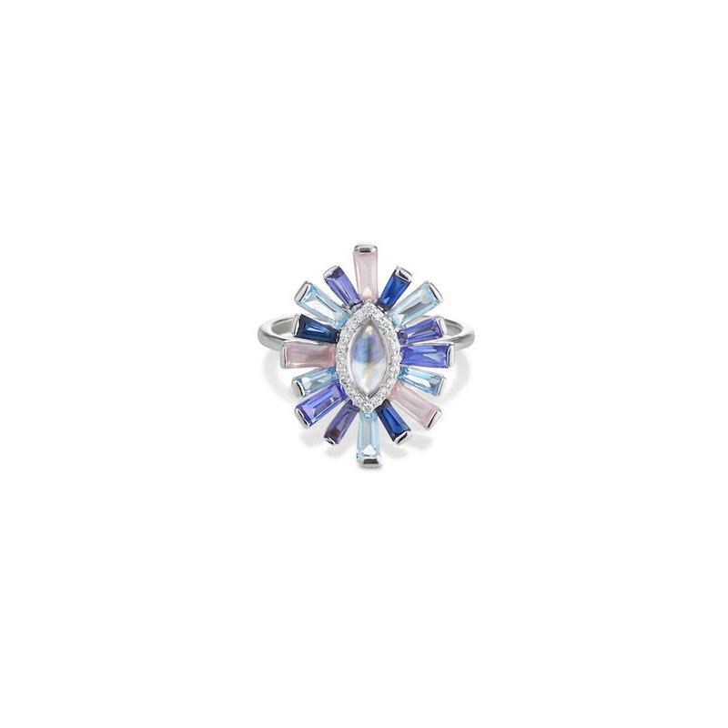 Studio Fine Moonstone & Diamond Halo Luminous Ring