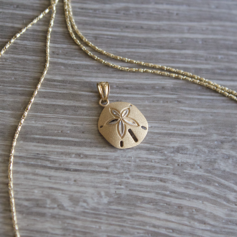 Beachy Baubles by The Studio Two Tone Sand Dollar Charm