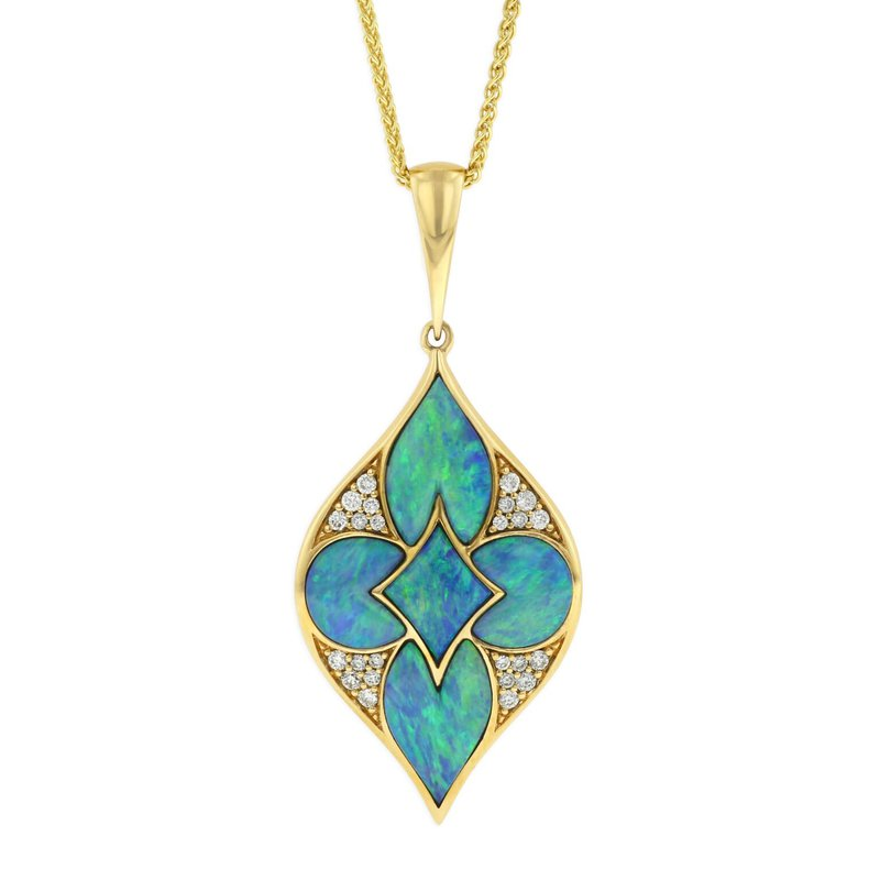 Studio Fine 14 Karat Opal Lumiere Necklace