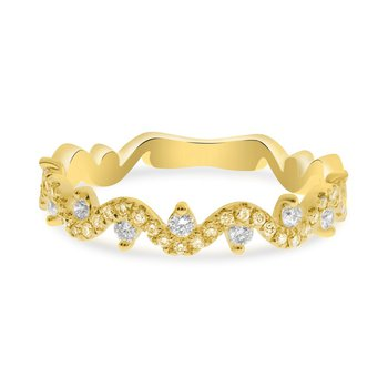 Yellow & White Diamond Wave Band