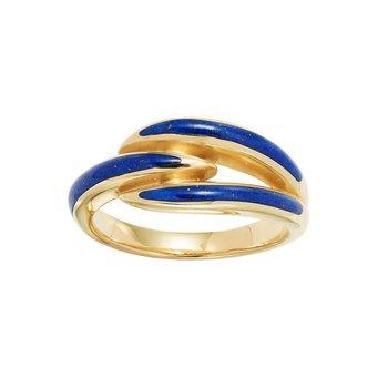 14 Karat Tri Lapis Ring