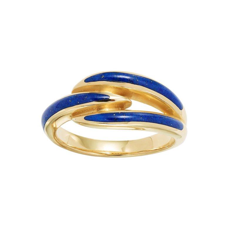 Studio Fine 14 Karat Tri Lapis Ring