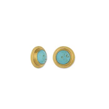 24k Turquoise Studs