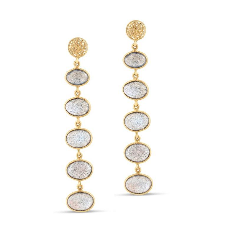 Studio Fine 18 Karat Labradorite Ocean Drop Earrings