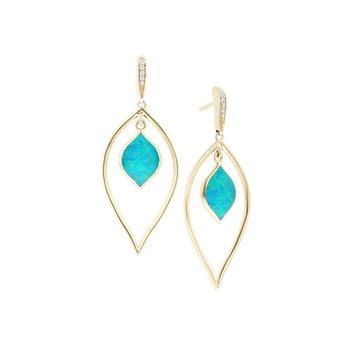 14 Karat Opal Spire Earrings