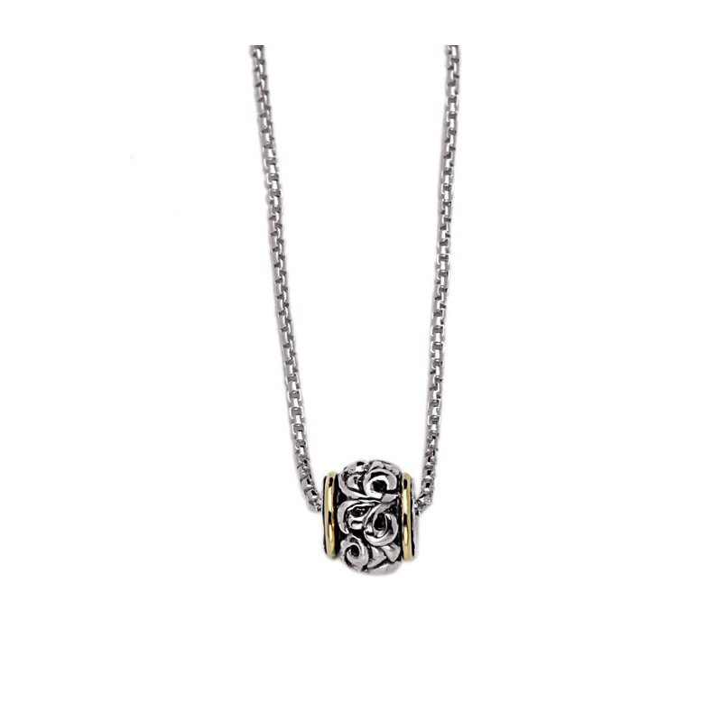 Studio Silver Two-tone Ivy Ball Necklace