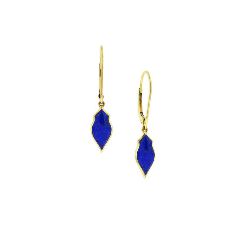 Studio Fine 14 Karat Lapis Alhambra Earrings