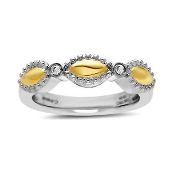 Yellow Two-tone Firefly Ring
