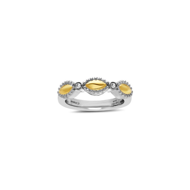Studio Silver Yellow Two-tone Firefly Ring