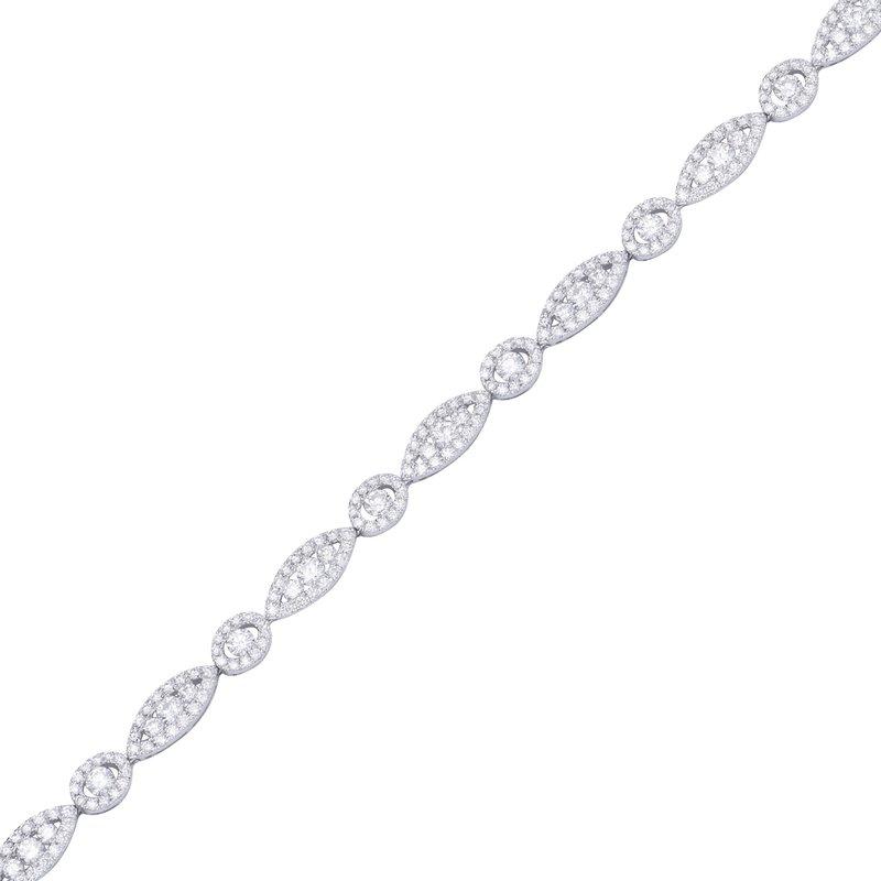 7 Mile Fine 18 Karat White Gold Diamond Bracelet