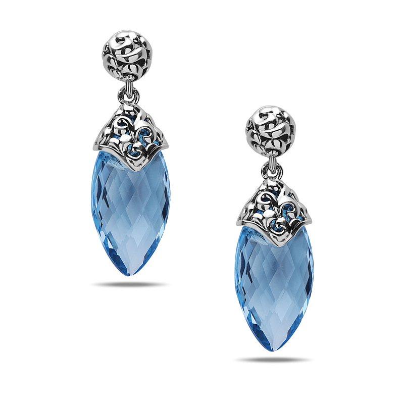 Studio Silver Blue Topaz Briolette Earrings