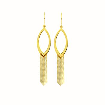 14 Karat Marquise Drape Earrings