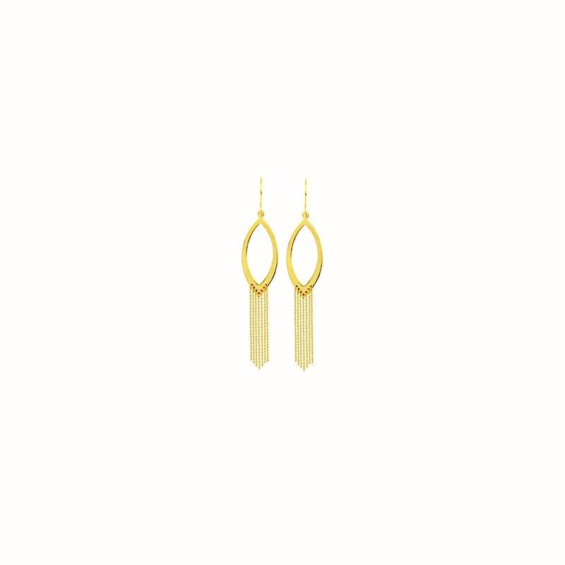 Studio Fine 14 Karat Marquise Drape Earrings