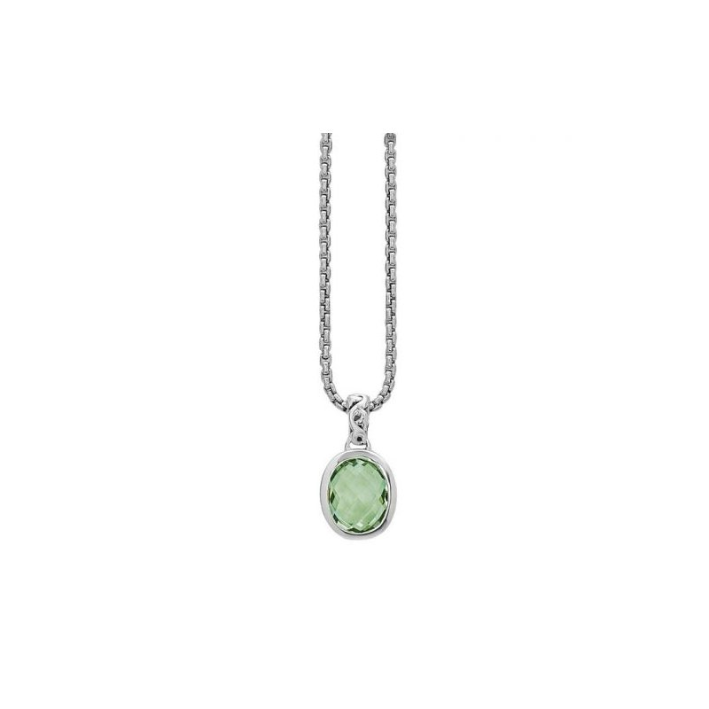 Studio Silver Green Amethyst Dylani Necklace