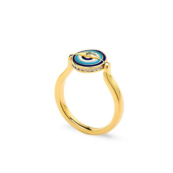 Small Reversible Evil Eye Ring