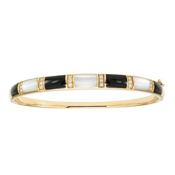 14 Karat Diamond Domino Bangle