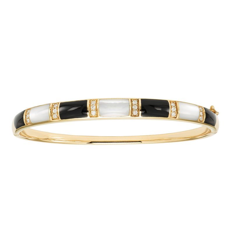 Studio Fine 14 Karat Diamond Domino Bangle
