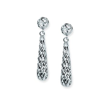 14 Karat Diamond Cut Drop Earrings
