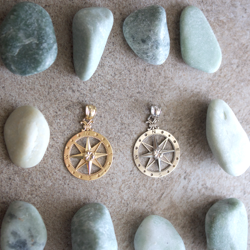 Beachy Baubles by The Studio Medium Classic Compass Charm
